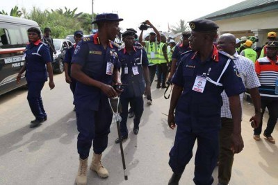 NSCDC parades 2 suspects over alleged solar batteries theft in Ebonyi