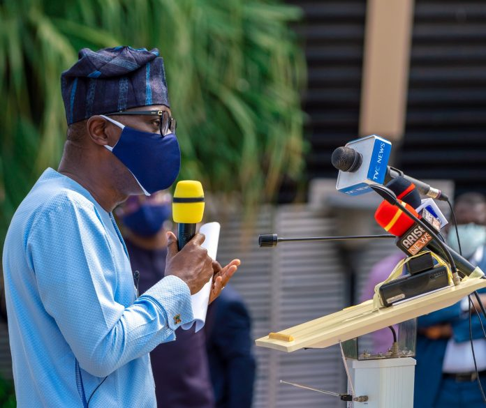 Sanwo-Olu inaugurates indigenous face mask manufacturing factory