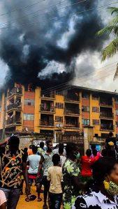 Fire guts 3-storey building in Onitsha