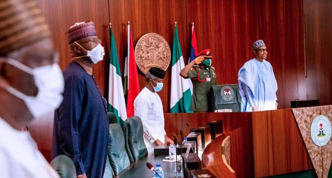 Buhari presides over virtual FEC as cabinet members honour Gen. Aboki Abdallah