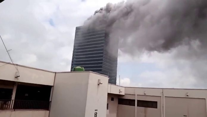 UPDATED: Fire guts World Trade Centre in FCT