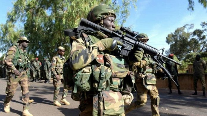 Troops eliminate terrorists, destroy gun trucks, recover arms