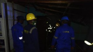Fire razes 6 shops at police barracks in Lagos