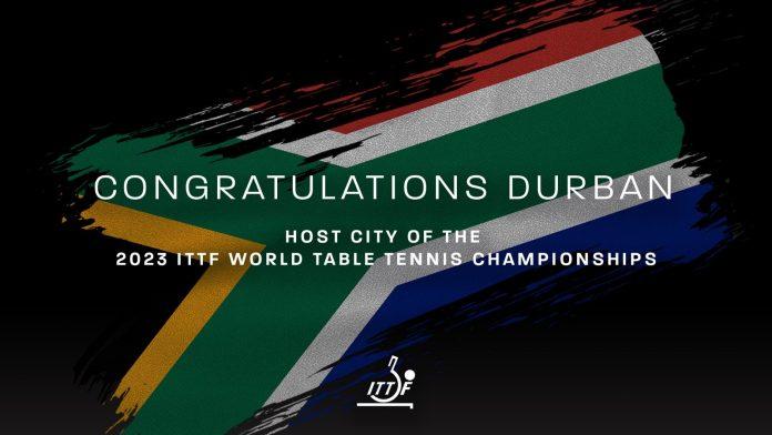 Durban to host historic 2023 ITTF World Table Tennis