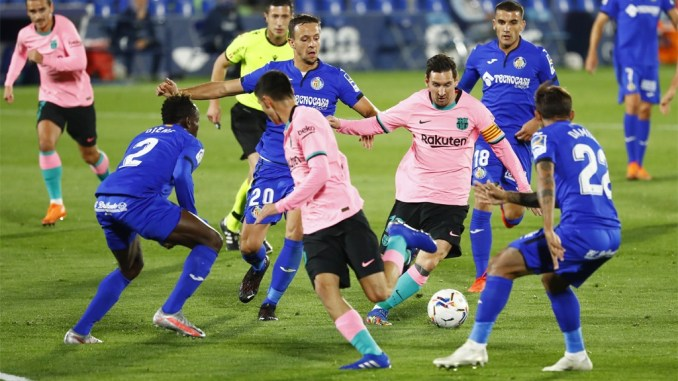 Barcelona sink to defeat at Getafe