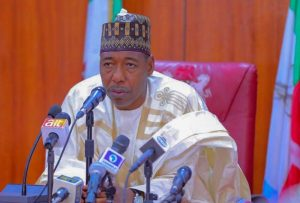 Zulum donates materials, cash to 1,111 displaced families in Borno