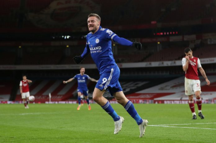 Vardy penalty kick earns Leicester City tight win over Wolves