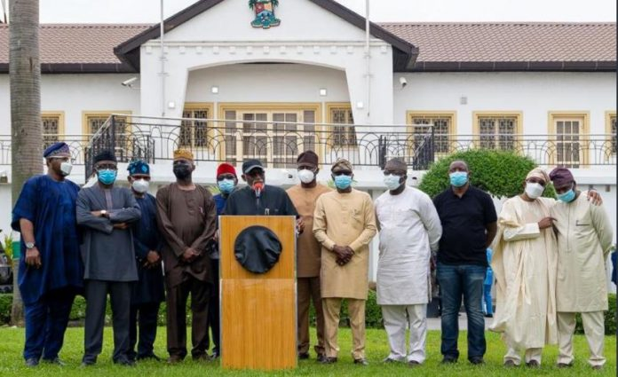 Hoodlums: Ministers, governors, visit Lagos to commiserate with Sanwo-Olu (Photos))