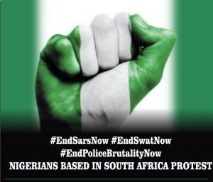 Nigerians in South Africa to march in solidarity with youths on #EndSARS