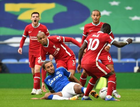Liverpool denied by VAR in EPL derby draw with Everton