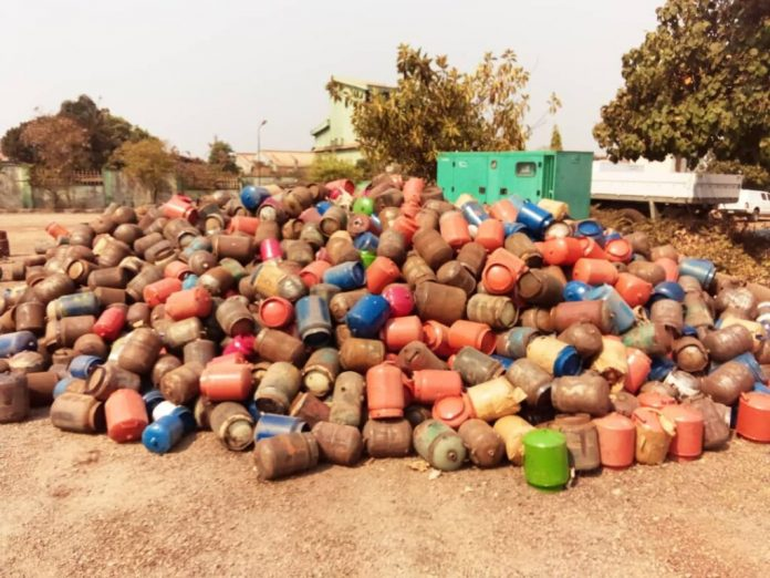SON destroys 2,000 substandard cooking gas cylinders