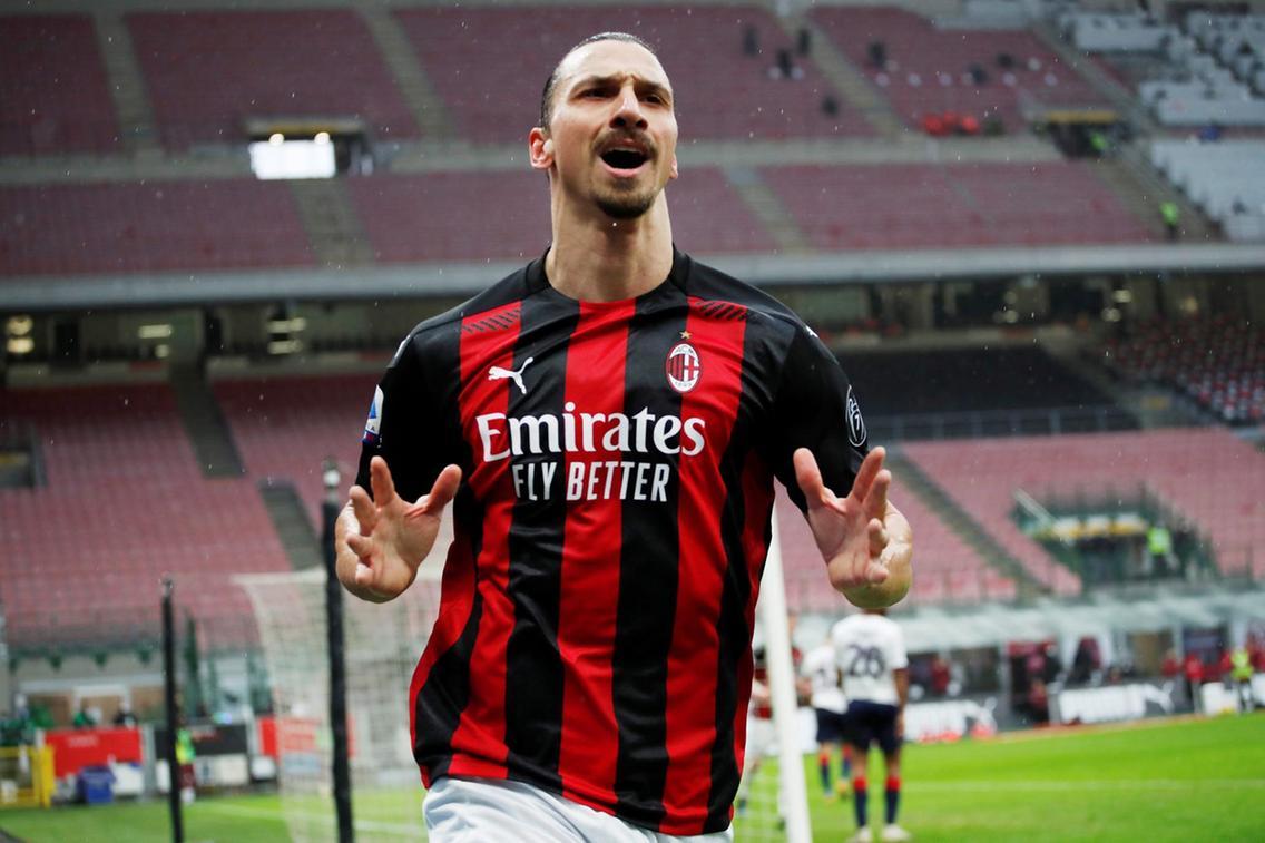 Ibrahimovic scores 500th club goal to keep AC Milan atop Serie A