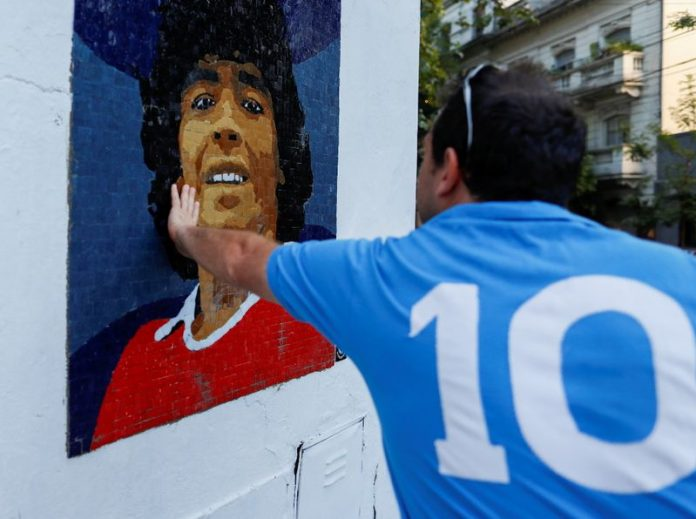 Argentines honour Maradona with mosaics