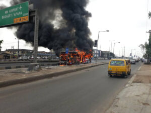 No passenger sustains injury in Lagos BRT fire incident — Spokesman