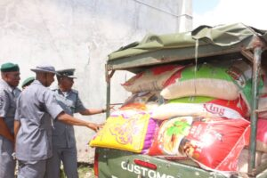 Customs intercepts N788m contraband in Seme in 2020
