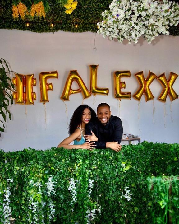 Alexx Ekubo proposes to his girlfriend, Fancy Acholonu (Photos)