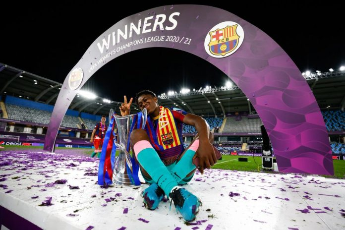 Oshoala wins UEFA Women's Champions League with Barcelona
